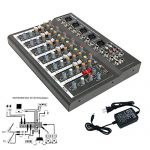 4/7 Channel Professional Powered Mixer Power Mixing Live Studio Audio Sound DJ-Mixer Mixing Console with USB slot (7 Channel) 1