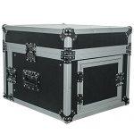 Seismic Audio – SAMRC-6U – 6 Space Rack Case with Slant Mixer Top – PA/DJ Pro Audio Road Case 1