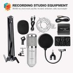 Professional Studio Broadcasting and Recording Capacitor Condenser Microphone Set(Silver) 1