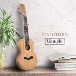 VIVICTORY Soprano Ukulele 21 Inch Mahogany Aquila String With Beginner Kit : Tuner, Gig Bag, Straps and Picks – Natural Color