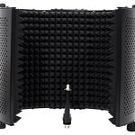 Rockville Recording Studio Microphone Isolation Shield + Heavy Duty Tripod Stand 1