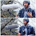 Micolive Microphone Windshield Blimp Windscreen Style Protect Cage and Rycote Shock Mount Suspension System Compatible with Rode NTG1 NTG2 NTG3 NTG4 AT875R Line MKE 600 Series Shotgun Microphones etc 1