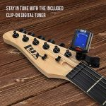 LyxPro Left Hand 39 Inch Electric Guitar and Starter Kit Bundle for Lefty Full Size Beginner's Guitar, Amp, Six Strings, Two Picks, Shoulder Strap, Digital Clip On Tuner, Guitar Cable and Soft Case Gi 3