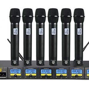 PRORECK 6-Channel UHF Wireless Microphone System