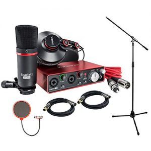 Focusrite Scarlett 2i2 Studio Pack & Recording Bundle