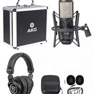 Studio Condenser Recording Podcasting Microphone Mic+Case+Headphones