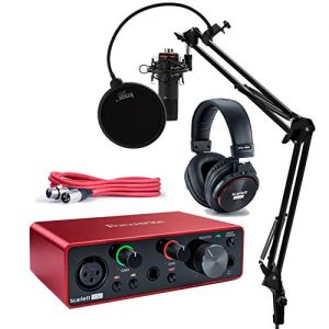 Focusrite Scarlett Solo Studio 3rd Gen USB Audio Interface and Recording Bundle