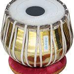 Tabla Set by Maharaja Musicals, Golden Brass Bayan 3Kg, Sheesham Dayan Tabla, Nylon Bag, Hammer, Book, Cushions, Cover, Tabla Indian Drums (PDI-CH) 2