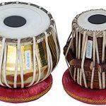 Tabla Set by Maharaja Musicals, Golden Brass Bayan 3Kg, Sheesham Dayan Tabla, Nylon Bag, Hammer, Book, Cushions, Cover, Tabla Indian Drums (PDI-CH) 1