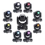 Stage Lighting DJ Moving Head Lights 50W LED Spot 4 Color Light with 7/10 Channel for Bar Club Party Disco Show Bands DMX by U`King 2
