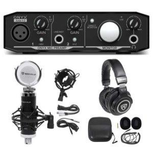 Mackie Onyx Artist 1.2 2x2 USB Recording Interface+Studio Microphone