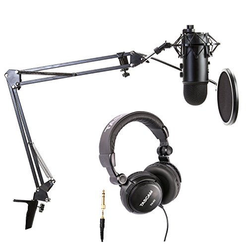 Blue Microphones Blackout Yeti Bundle with Boom arm, Pop Filter