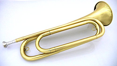 U.S. Regulation Bugle Brass Lacquer w/Mouthpiece and Bag