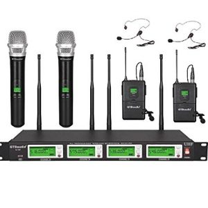 GTD Audio 4x800 Selectable Frequency Channels UHF Diversity Wireless
