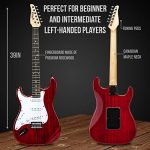 LyxPro Left Hand 39 Inch Electric Guitar and Starter Kit Bundle for Lefty Full Size Beginner's Guitar, Amp, Six Strings, Two Picks, Shoulder Strap, Digital Clip On Tuner, Guitar Cable and Soft Case Gi 2