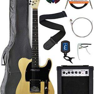 Vault GTLMN Ovangkol Fretboard Electric Guitar - Natural Bundle