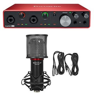 Focusrite SCARLETT Gen USB Audio Recording Interface+Studio Mic