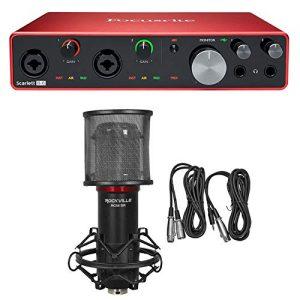 Focusrite SCARLETT Gen USB Audio Recording Interface+Studio Mic