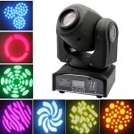 XPC 2PCS LED Moving Head Light Spot 4 Color Gobos Light 60W DMX with Show KT V Disco DJ Party for Stage Lighting(2Pack-60W) 2