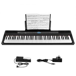 Donner Beginner Digital 88 Key Full Size Weighted Keyboard, Portable Electric Piano
