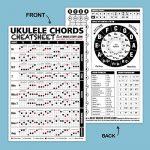Small + Large Ukulele Chords Cheatsheet Bundle – Laminated and Double Sided Pocket Reference 4″x6″ and 6″x9″ • Best Music Stuff 1