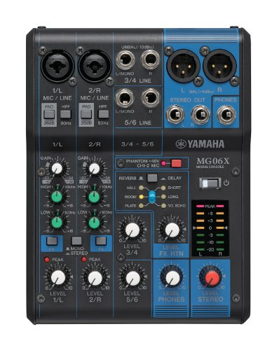 Yamaha 6-Input Compact Stereo Mixer With Effects