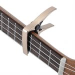 Mini Size Professional 4 String Guitar Capo, Ukulele Capo (GOLD) 2