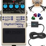 BOSS DD-8 Digital Delay Guitar Effects Pedal Bundle with Blucoil Slim