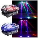 Spider Moving Head Light, U`King 9 Leds Heads X 10W RGB Stage Lighting Effect 12/19 Channels DMX-512 and Sound Activated Great for Wedding Disco Dj Party Lights 2