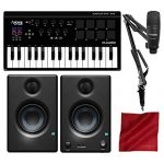 M-Audio Axiom AIR Mini 32 USB MIDI Keyboard with Marantz Pod Pack 1 USB Microphone Kit and PreSonus Eris E3.5 Studio Monitors Bundle