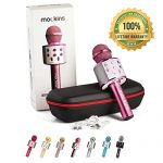 mockins Wireless Bluetooth Karaoke Microphone with Built In Bluetooth Speaker All-in-One Karaoke Machine | Compatible with Android & Ios Iphone – Purple Color