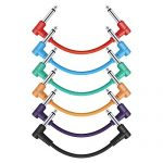 Donner 6 Inch Patch Colored 6-Pack Guitar Effect Pedal Cables