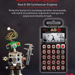 Teenage Engineering PO-28 Pocket Operator Robot Lead Synthesizer/Sequencer Bundle with Samson SR350 Over-Ear Closed-Back Headphones, Blucoil 3-Pack of 7″ Audio Aux Cables, and 4 AAA Batteries 1