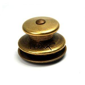 Bass Guitar Strap Locks - Non-slip Locking Strap Buttons Belt Buckle Antique Brass