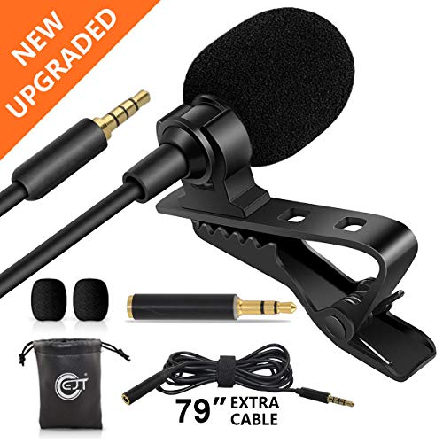 """EJT Lavalier Lapel Microphone with 79"""" Extension Cable and PC Adapter"""