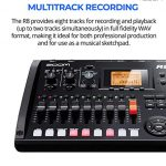 Zoom R8 Multitrack Recorder Bundle with 16GB and 32GB Class 10 SDHC SD Cards, Blucoil 2-Pack of 10-FT Straight Instrument Cables (1/4in), 2x 10′ XLR Cables, 5x Cable Ties, and 8 AA Batteries 1