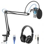 Neewer USB Microphone with Suspension Scissor Arm Stand, Shock Mount