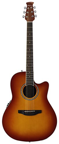 Ovation Applause 6 String Acoustic-Electric Guitar, Right, Honey Burst