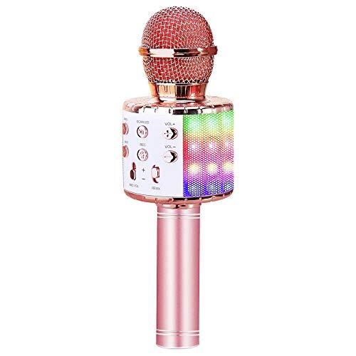ZMLM Wireless Bluetooth Karaoke Microphone with LED Light