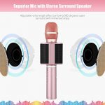 Wireless Bluetooth Karaoke Microphone, Mbuynow TWS Portable Handheld Kids Karaoke Mic with Speaker Phone Holder for Kids Adults Home Party for iPhone/Android/Smartphone 2