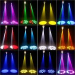 U`King 100W LED Moving Head Light Stage Effect Wash Lights 8 Gobos 8 Colors DMX512 9/11 Channels Beam Light for Church Wedding Party Nightclub (White) 1