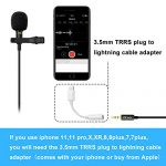 PoP Voice 12.8 Feet Lavalier Lapel Microphone Professional Grade Omnidirectional Mic Condenser Small Mini Perfect for Recording Podcast PC Laptop Android iPhone YouTube Interview ASMR External 3