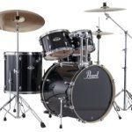 Pearl EXX725S/C 5-Piece Export New Fusion Drum Set with Hardware – Jet Black