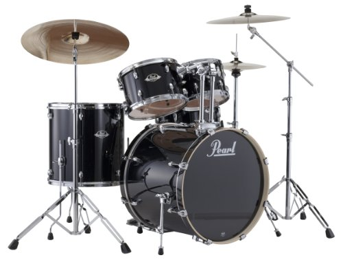 Pearl 5-Piece Export New Fusion Drum Set with Hardware - Jet Black