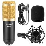 Neewer NW-800 Professional Studio Broadcasting & Recording Microphone Set Including (1)NW-800 Professional Condenser Microphone + (1)Microphone Shock Mount + (1)Ball-type Anti-wind Foam Cap + (1)Microphone Power Cable (Black) 1