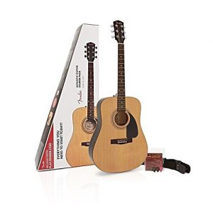 Fender Beginner Dreadnought Pack, Natural with Strings, Strap, and Picks