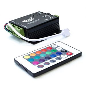 HitLights LED Light Strip Music Controller 12V-24V, Sound Activated