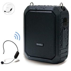 Wireless Voice Amplifier with UHF Mic Headset, 18W 4400mAh Rechargeable