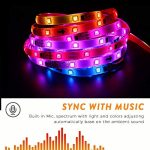 Dream Color LED Strip Lights Sync to Music, 16.4ft RGB 5050SMD Waterproof Flexible String Light – Built-in IC, 150LEDs Chase Effect Rope Lighting with RF Remote, 12V Power Supply 2