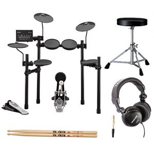 Yamaha Electronic Drum Set with Drum Throne, Drumsticks and Stereo Headphones